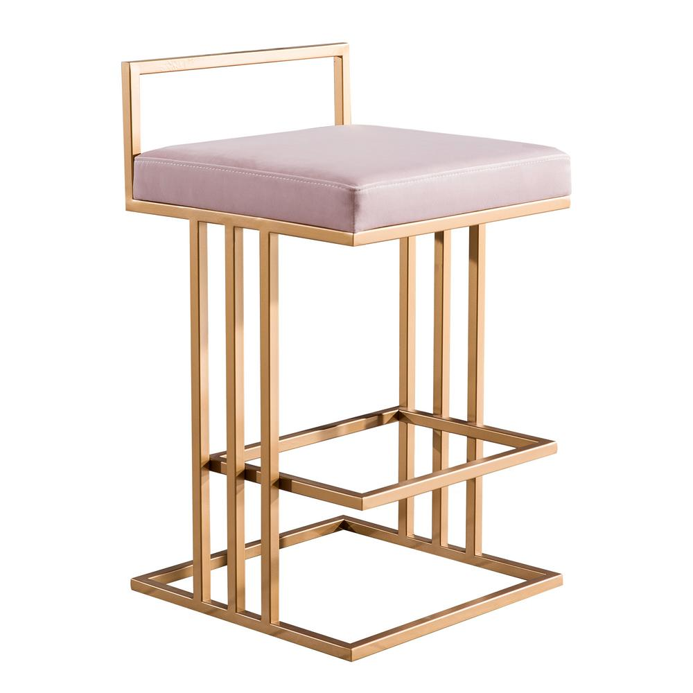 Tov Furniture Trevi 26 In Blush Counter Stool Tov D4117
