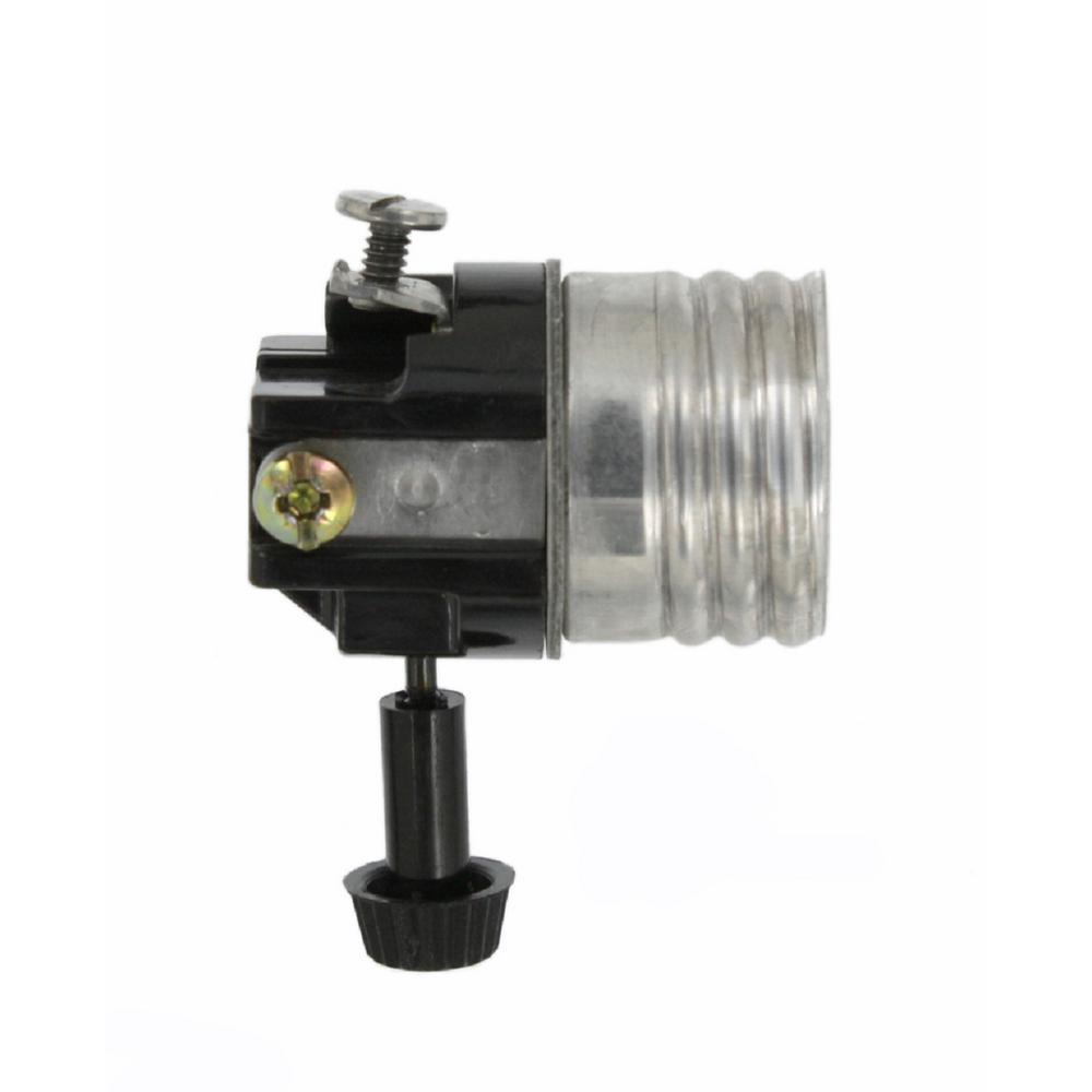 250W Medium Base 2-Circuit Turn Knob Incandescent Lampholder Interior