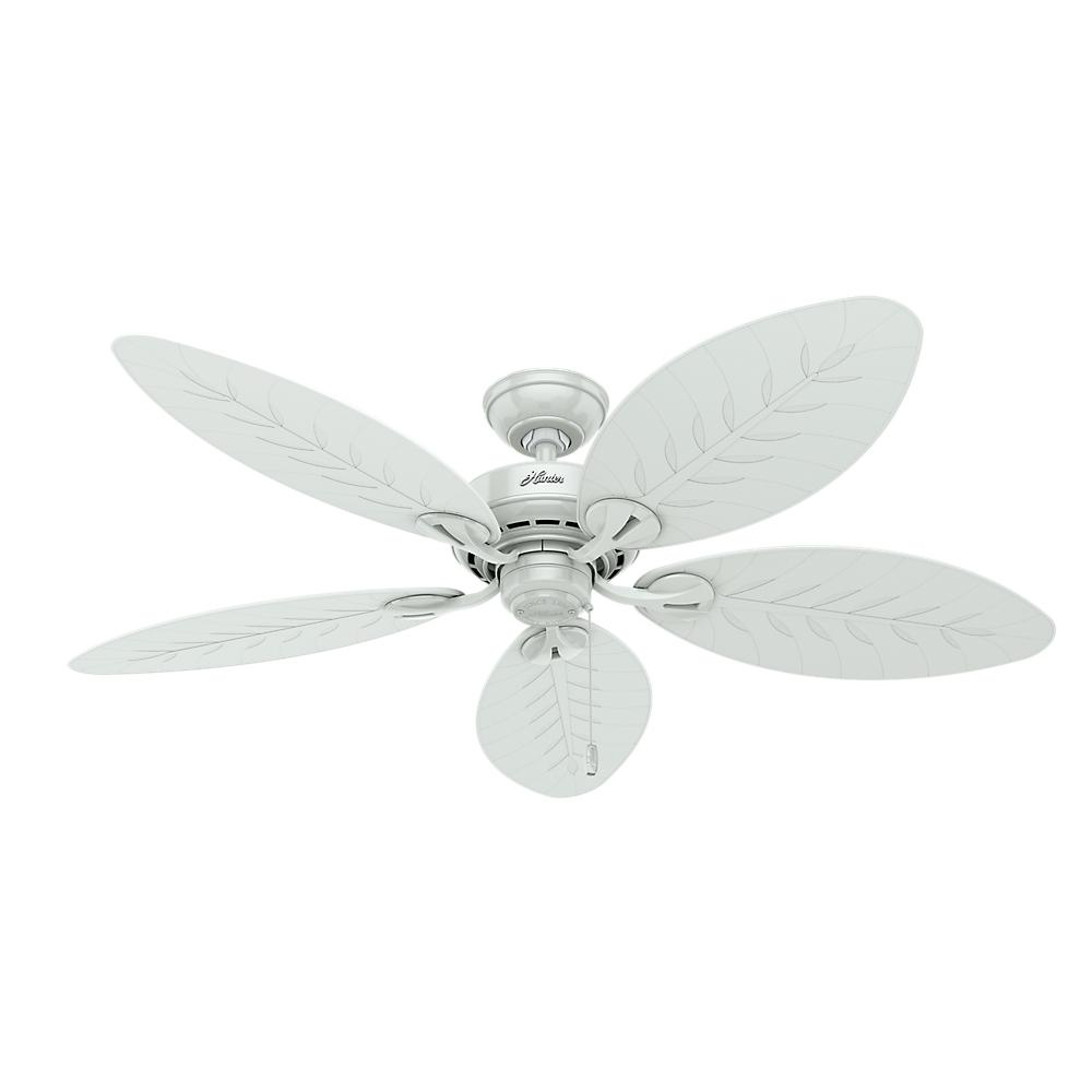 Indoor Outdoor White Ceiling Fan