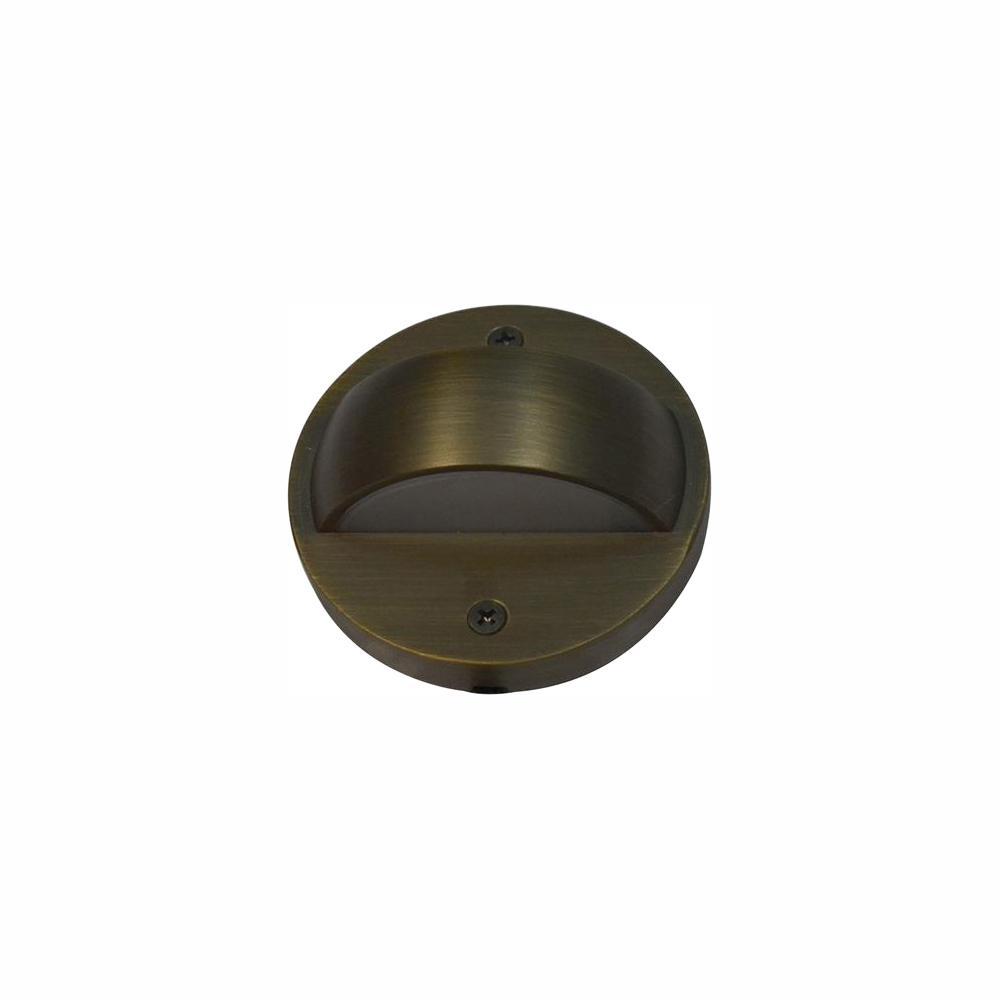 6-Watt Brass Outdoor Integrated LED 2700K White Warm Landscape Deck Light