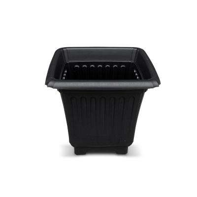 Baytown II Accessory Planter 15 in. Black Resin for Outdoor Solar Lamp Post