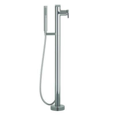 Composed Single-Handle Floor-Mount Roman Tub Faucet with Handshower in Vibrant Titanium