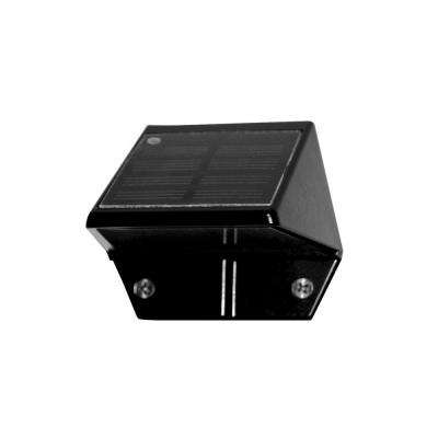 Black Aluminum Outdoor Deck and Wall Light (2-Pack)