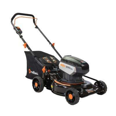 18 in. 40-Volt Electric Lithium-Ion Walk Behind Push Lawn Mower Kit