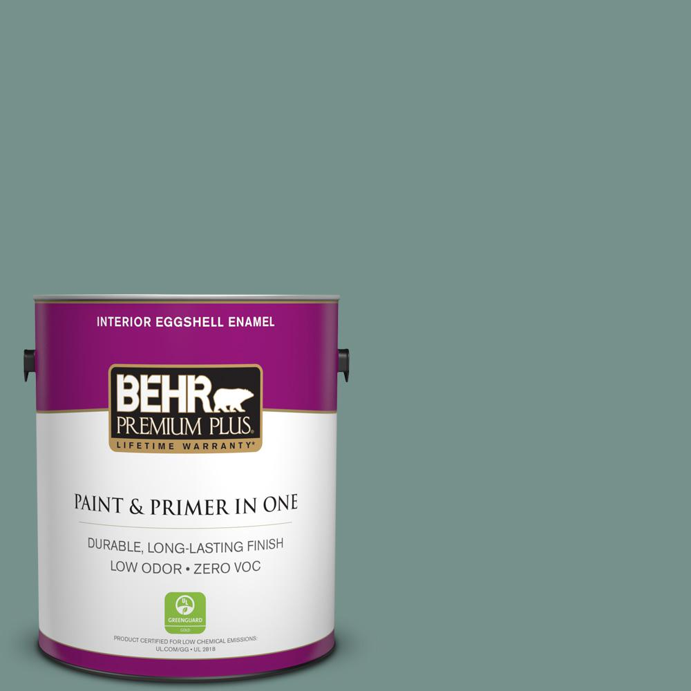 BEHR Premium Plus 1-gal. #S430-5 Longmeadow Eggshell Enamel Interior Paint