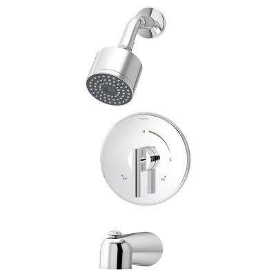 Dia Single-Handle Tub/Shower Valve Trim in Chrome (Valve Not Included)