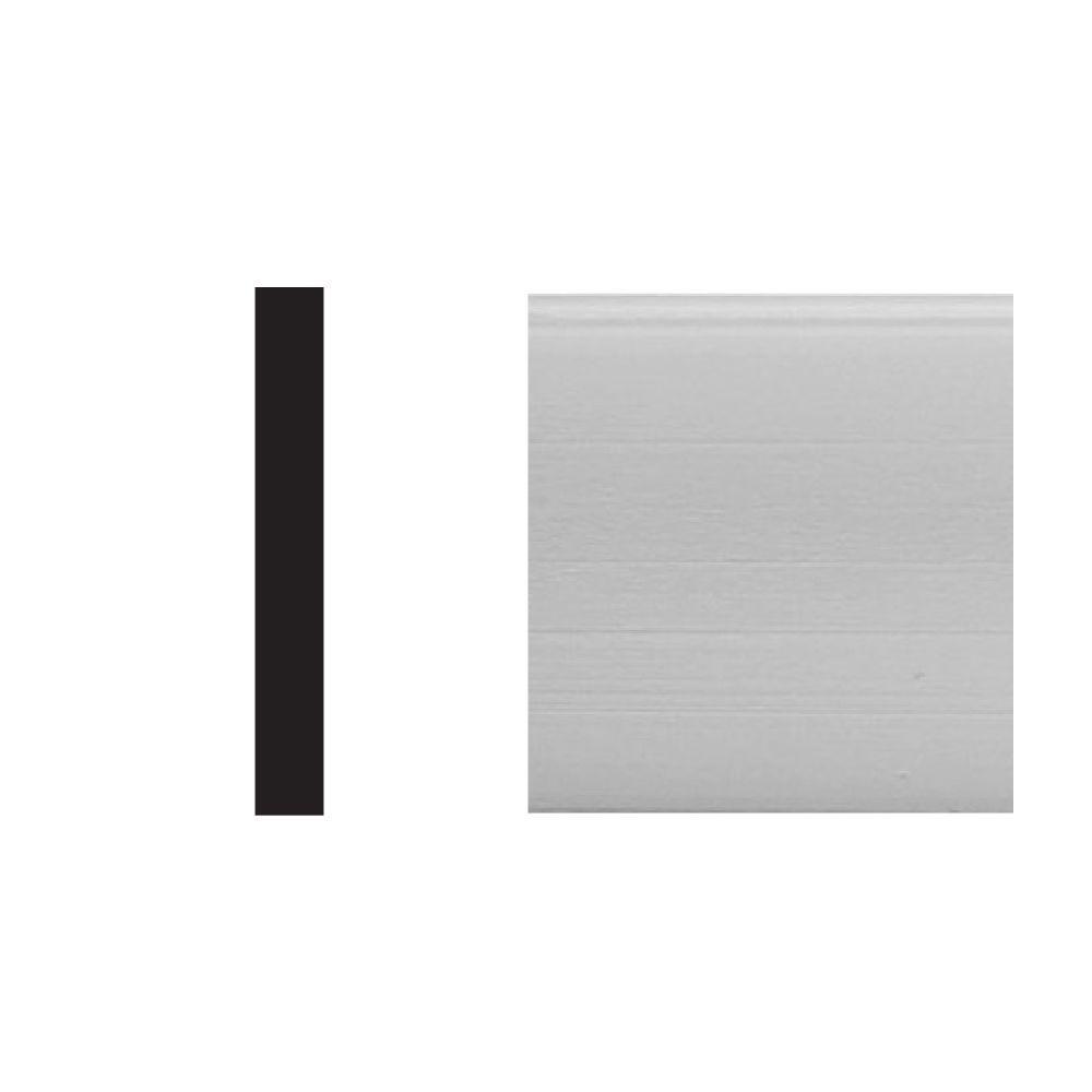 5534 5/32 in. x 1-1/8 in. x 8 ft. PVC White Lattice Moulding