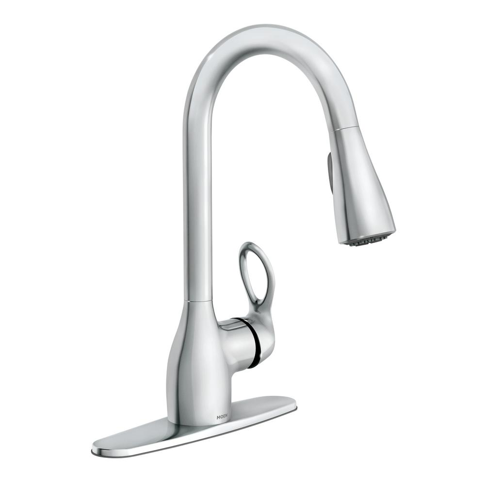 Exceptionnel MOEN Kleo Single Handle Pull Down Sprayer Kitchen Faucet With Reflex And  Power Clean