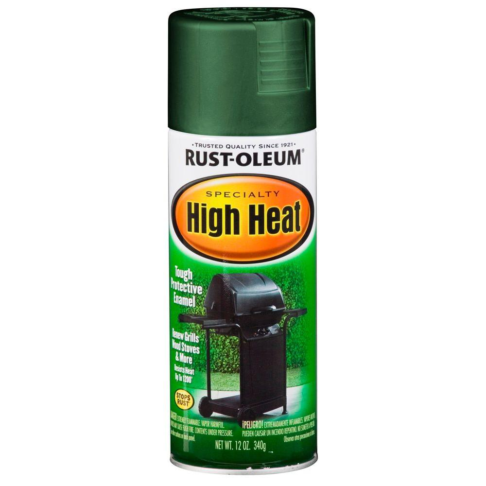 Rust Oleum Specialty 12 Oz High Heat Satin Green Spray Paint 6 Pack