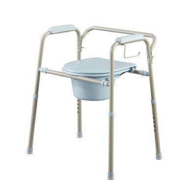 Folding Steel Bedside Commode with Microban