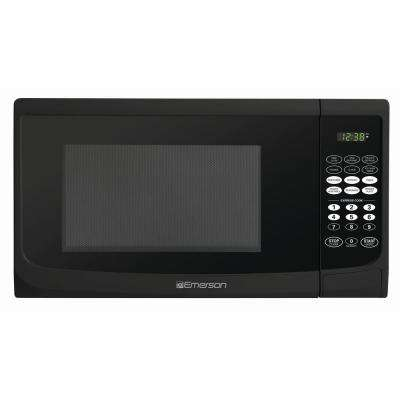 0.9 cu. ft. 900-Watt Countertop Microwave Oven in Black