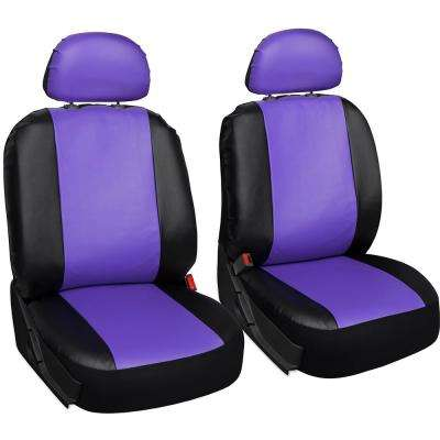 Polyurethane Bench Seat Cover 21.5 in. L x 23 in. W x 31 in. H Bench Seat Cover Purple and Black