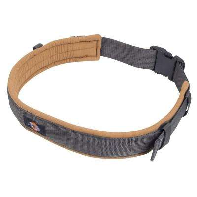3 in. Padded Belt with Durable Plastic Buckle, Grey/Tan