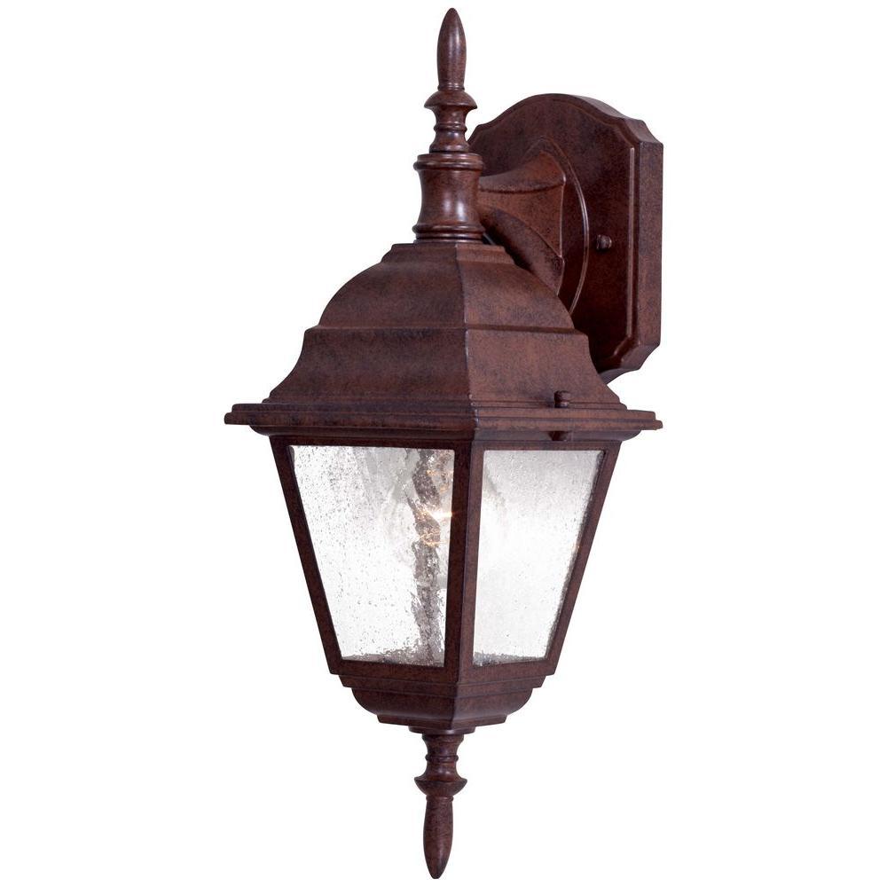 Bay Hill Wall-Mount 1-Light Antique Bronze Outdoor Lantern