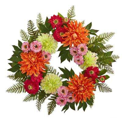 20 in. Dahlia Wreath