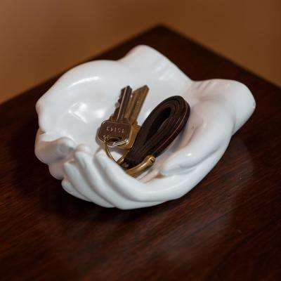 Hands White Resin Utility Holder