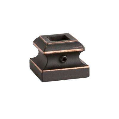Square Hole 1.3125 in. Aluminum Level Shoe Baluster Shoe Oil Rubbed Copper
