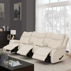 Incredible Prolounger Off White Almond Tuff Stuff Fabric 3 Seat Pabps2019 Chair Design Images Pabps2019Com