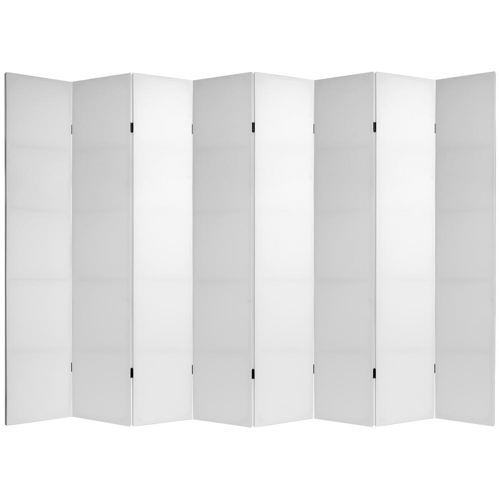 Oriental 7 ft. White Do It Yourself Canvas 8-Panel Room D...