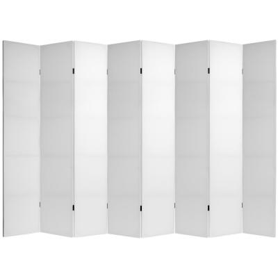7 ft. White Do It Yourself Canvas 8-Panel Room Divider