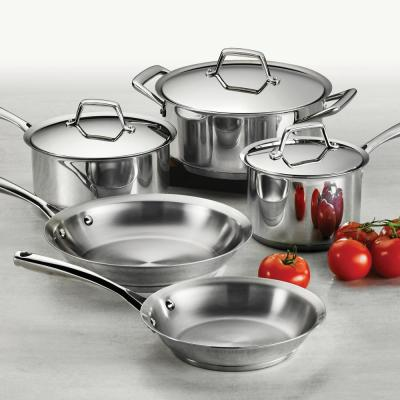 Gourmet Prima 8-Piece Stainless Steel Cookware Set
