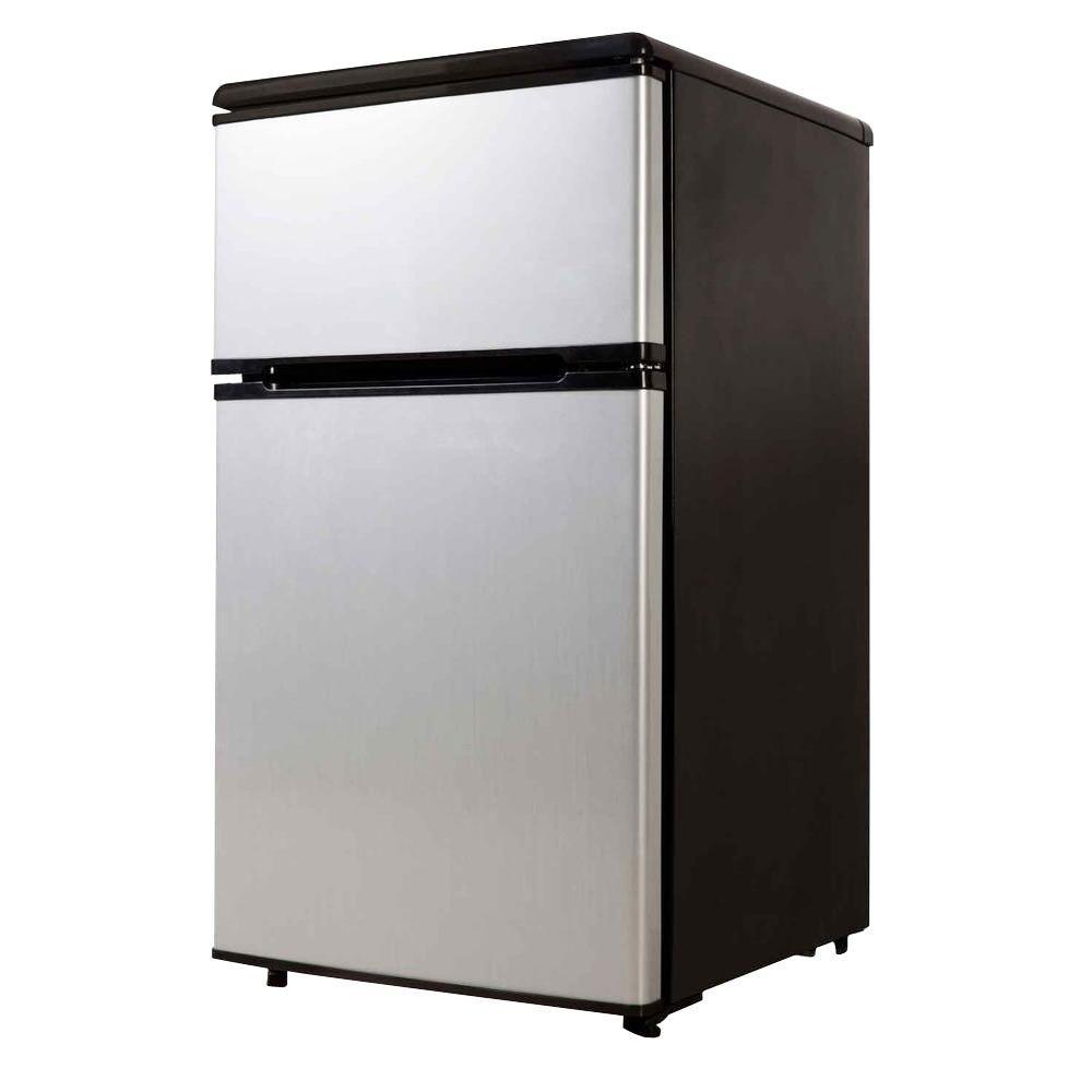 Equator-Midea 3.1 cu. ft. Double Door Compact Refrigerator (Stainless Steel)