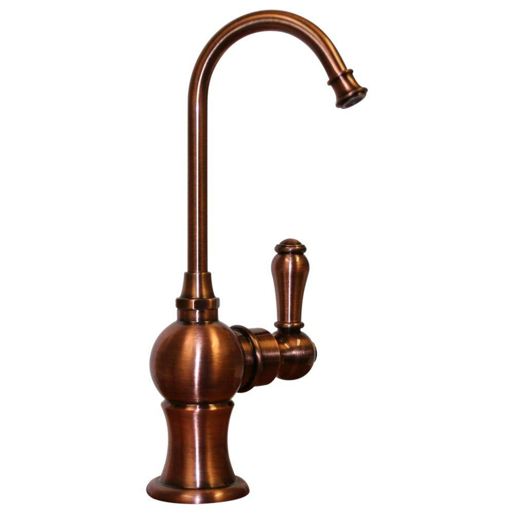 Whitehaus Collection Single-Handle Point of Use Drinking Water Faucet in Antique Copper