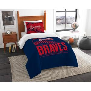 Braves 3-Piece Multi Color GrandSlam Twin Comforter Set by