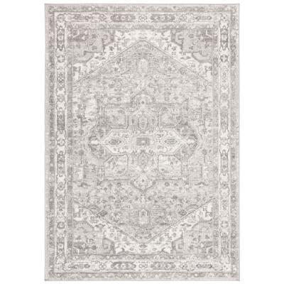 Brentwood Cream/Gray 6 ft. x 9 ft. Area Rug