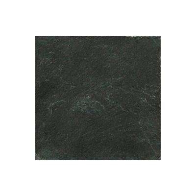 Slate Midnight Black Calibrated/Gauged 11.89 in. x 11.89 in. Slate Floor and Wall Tile