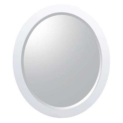 Esley 28 in. L x 24 in. W Wall Hung Mirror in Gloss White