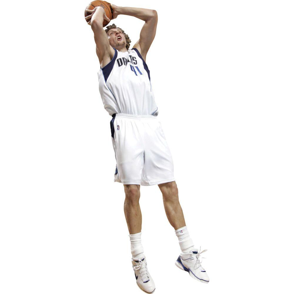 Fathead 38 in. x 90 in. Dirk Nowitzki Wall Decal