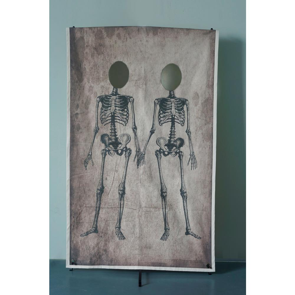 Home Accents Holiday 72.75 in. Couple Skeleton Canvas Photo Banner