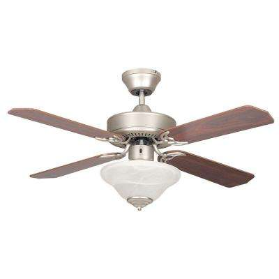 Nevaeh 42 in. Satin Nickel Ceiling Fan with Light Kit and 4 Blades