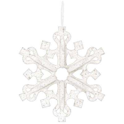 14 in. x 14 in. x 3 in. 3D Foam Snowflake with Glitter (3-Pack)