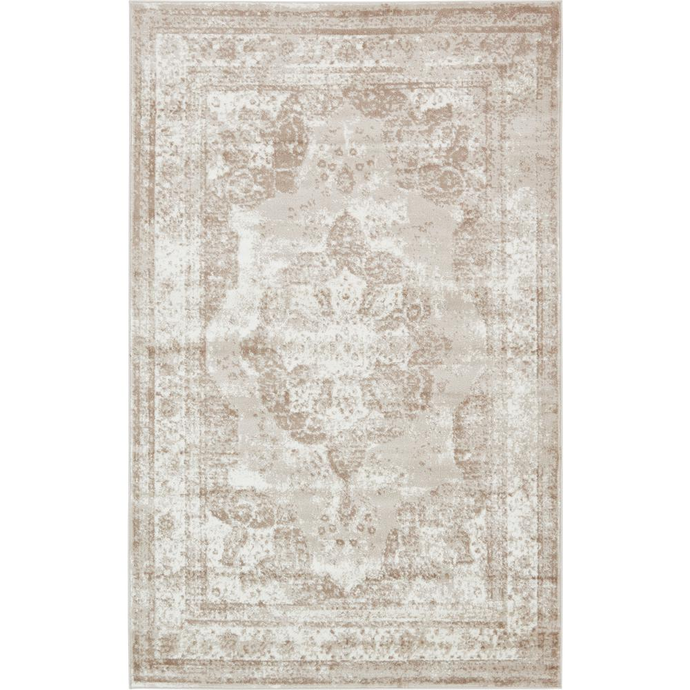 unique loom monaco beige 8 ft. x 10 ft. area rug-3134075 - the home Beige Rug