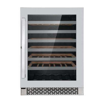 48-Bottle Stainless Steel 24 in. Single Zone Compressor Wine Cooler