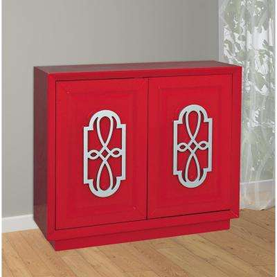 Bright Red Accent Chest