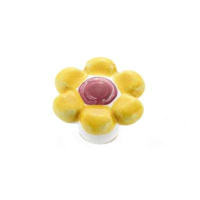 Country 1-37/64 in. Pastel Yellow Cabinet Knob
