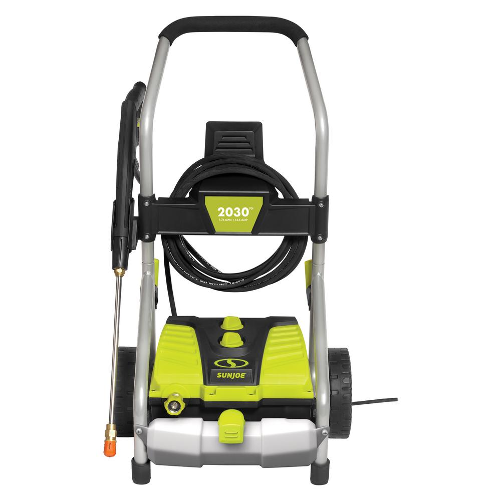 Sun Joe 2030 PSI 1.76 GPM 14.5 Amp Electric Pressure Washer with Pressure-Select Technology