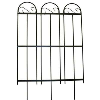 Yorkshire 39 in. Steel Garden Fence