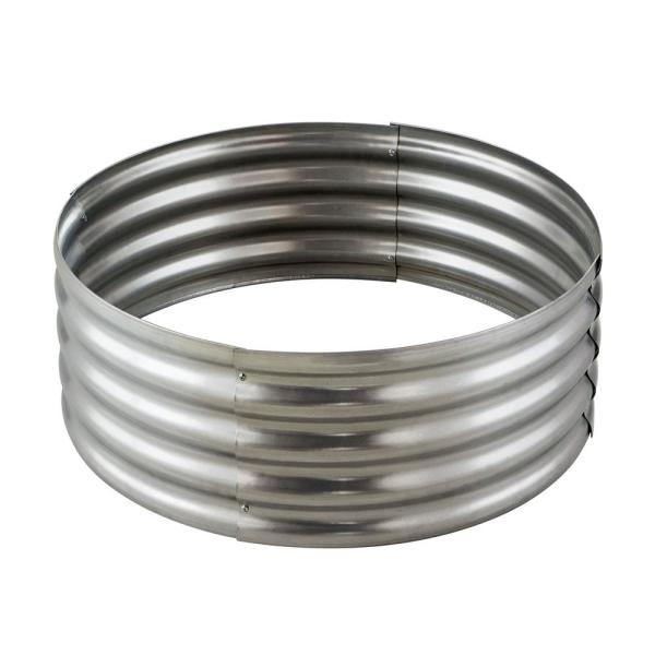 Hampton Bay Portman 36 In X 13 In Round Galvanized Steel Wood Burning Fire Ring Ofw994fra Hd The Home Depot