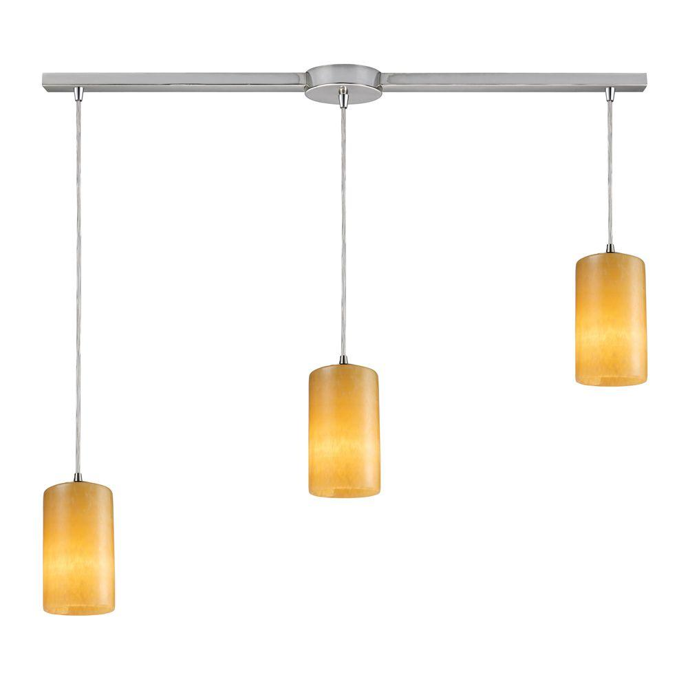 Coletta 3-Light Satin Nickel Ceiling Pendant