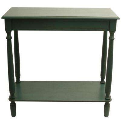 Rectangular Antique Teal Console Table