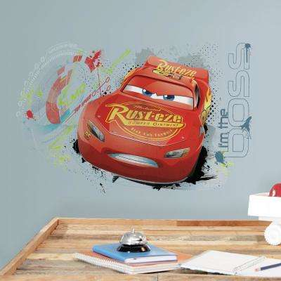 5 in. x 19 in. Cars 3 Lightning Mcqueen 2-Piece Peel and Stick Wall Graphic