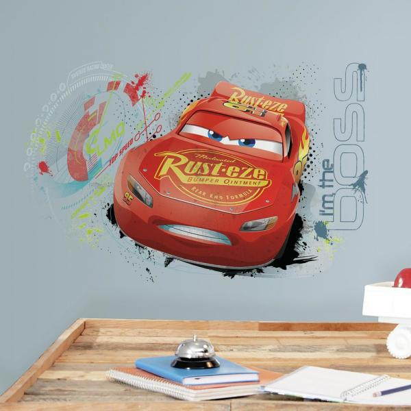 Roommates 5 In X 19 In Cars 3 Lightning Mcqueen 2 Piece Peel And