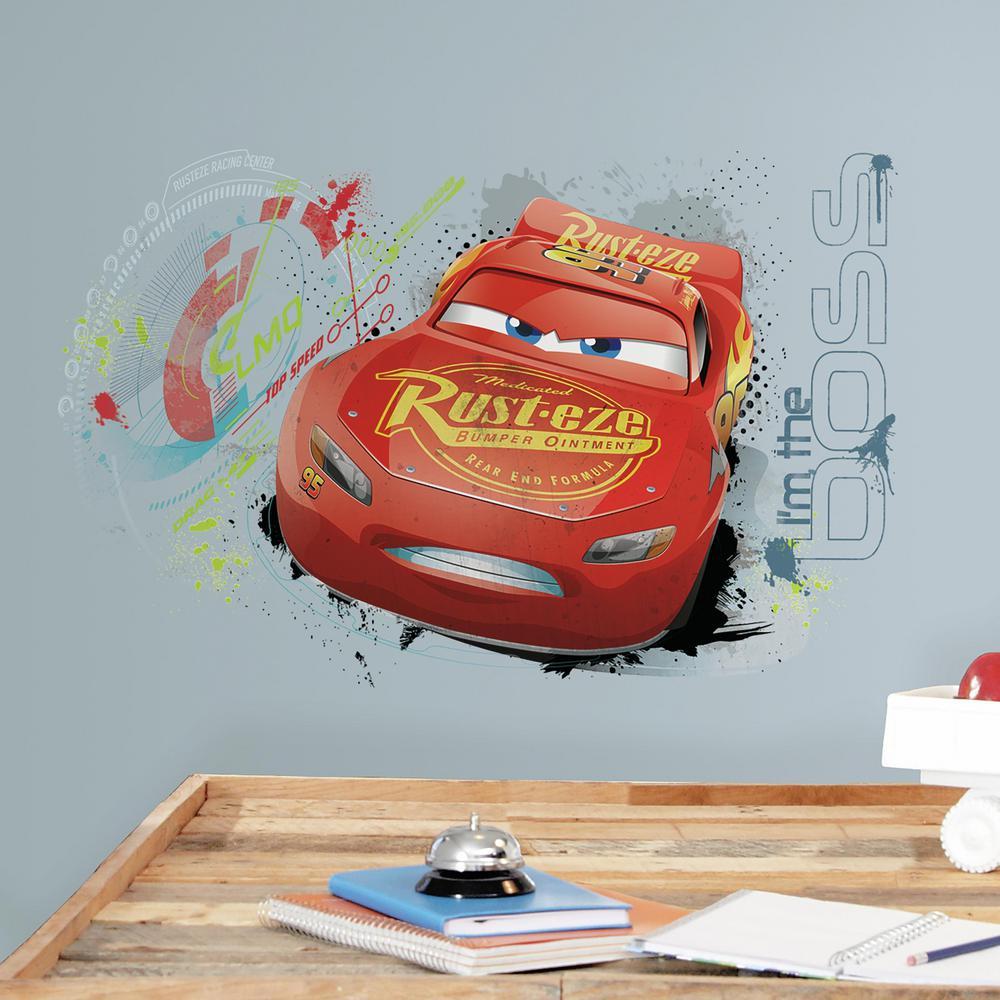 RoomMates 5 in. x 19 in. Cars 3 Lightning Mcqueen 2-Piece...