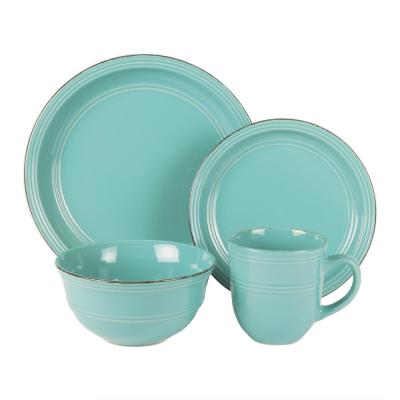 Madelyn 16-Piece Seafoam Dinner Set