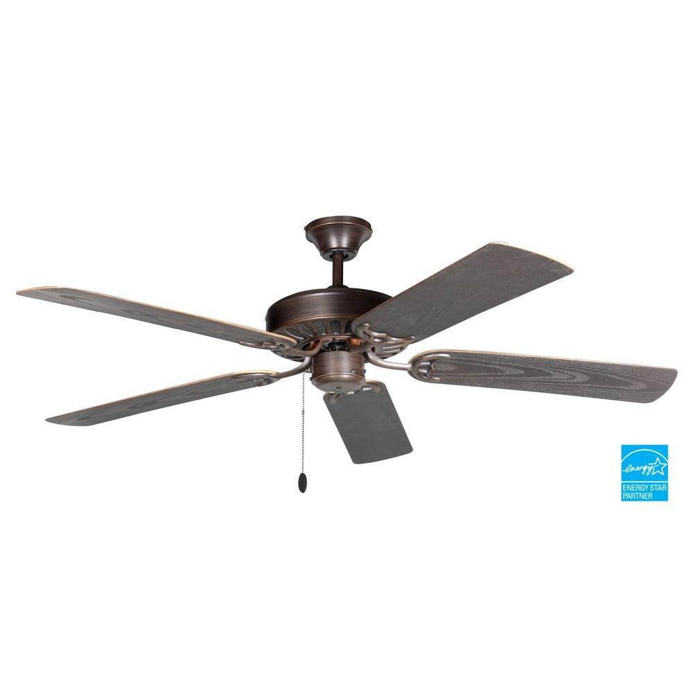 ProSeries Builder 52 in. Oil Rubbed Bronze Outdoor Ceiling Fan