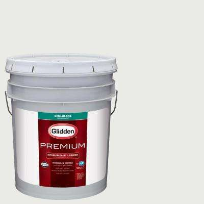 5 gal. #HDGG43U Extreme White Semi-Gloss Interior Paint with Primer